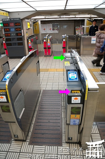 京阪電車自動改札通道