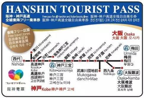 超級劃算的阪神電車一日券(HANSHIN TOURISTPASS)